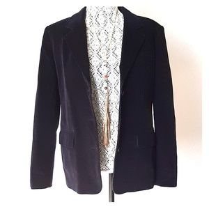 Rafaella Fall Blazer in Black Corduroy Jacket